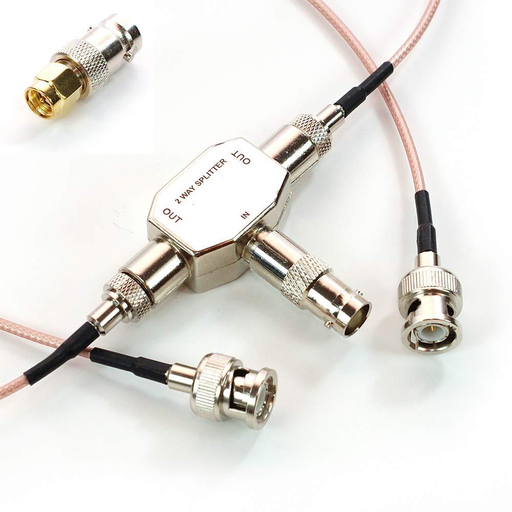 AEcreative 2-Way Antenna Signal Splitter for Uniden RadioShack Icom Alinco AOR Scanner shortwave Radio RTL-SDR Receiver BNC SMA by AEcreative
