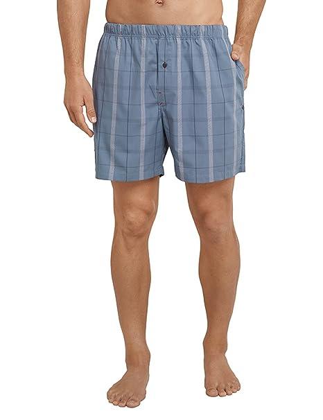 Long Boxer, Pantalones de Pijama para Hombre, Gris (Anthrazit 203), X-Large Schiesser