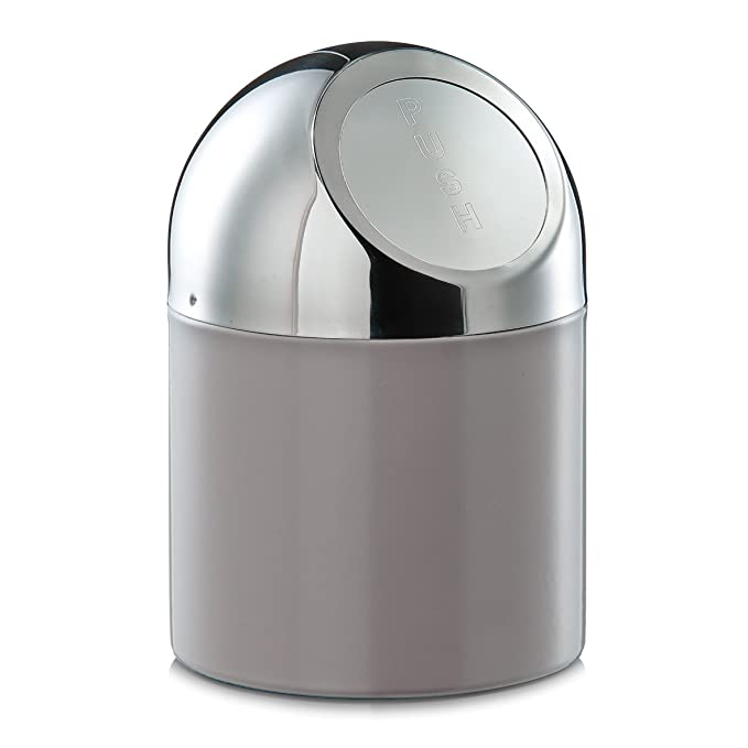Color Gris Papelera Zeller 27202 Acero Inoxidable y Metal Cromado