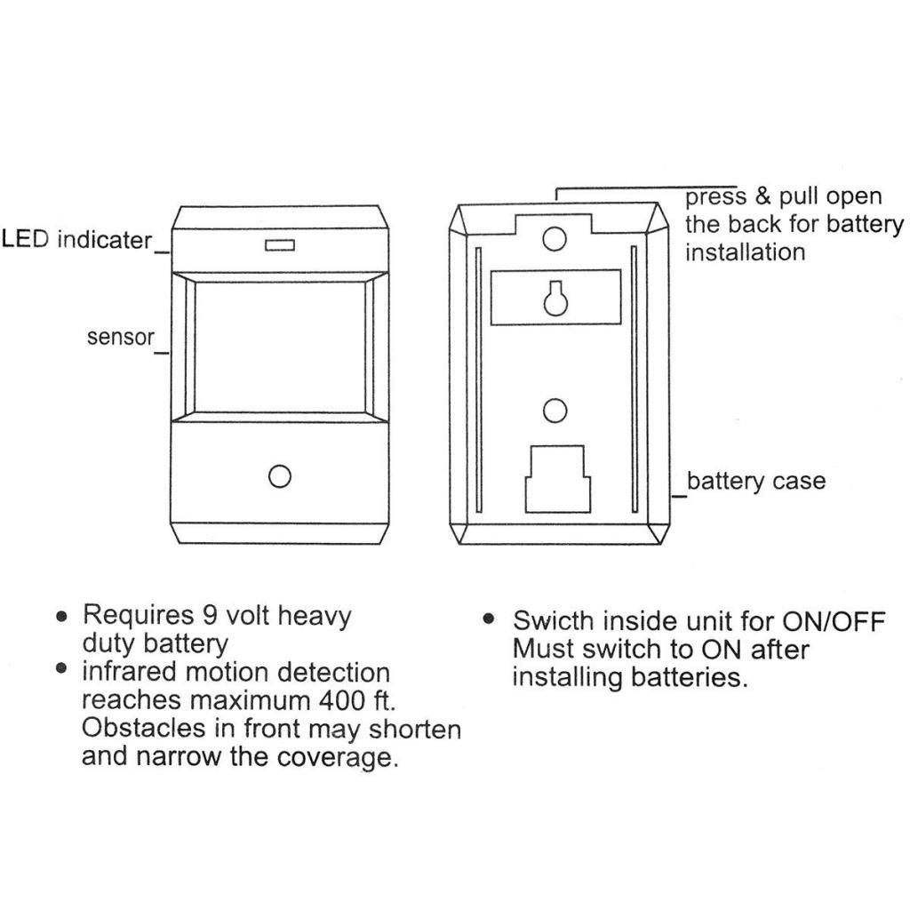 Mengshen Entry Door Bell Alarm Chime Doorbell Wireless IR Infrared Monitor Sensor Detector Split Alarm MS-YBQ03 by Mengshen (Image #8)