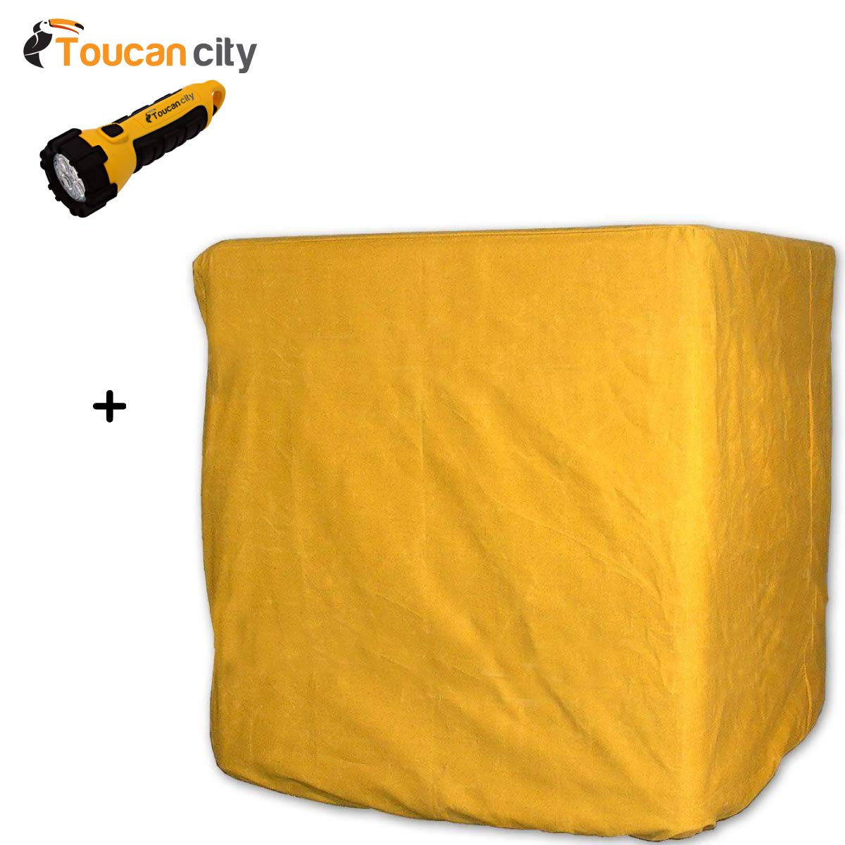 Toucan City LED Flashlight and Brian's Canvas Products 42 in. x 48 in. x 35 in. Evaporative Cooler Down Discharge Cover C424835DD Toucan City + C424835DD