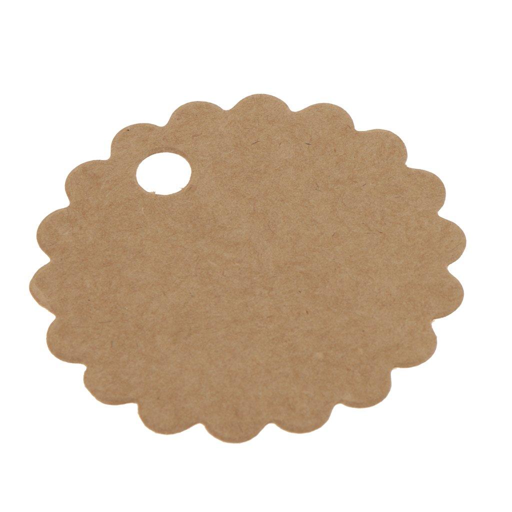 haorw 100 st ck kraft geschenk anh nger papieranh nger tags labels zum hochzeit party etikett. Black Bedroom Furniture Sets. Home Design Ideas