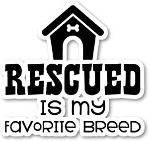 Rescue is My Favorite Breed Sticker Dog Rescue Stickers - 2 Pack - Laptop Stickers - 2.5