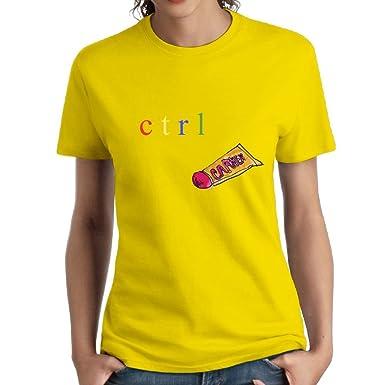 3dc2966c JoyRacka Custom SZA CTRL Music Fashion Lady T - Shirt at Amazon Women's  Clothing store: