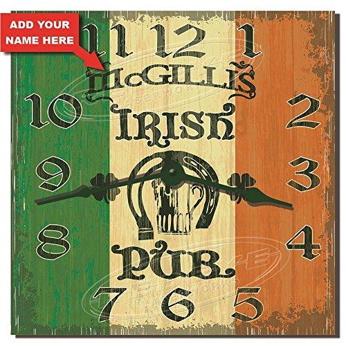- Irish Pub Personalized Hardboard Kitchen Clock from Redye Laserworks