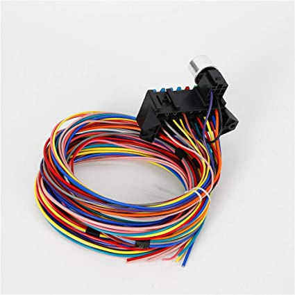 amazon com: plastic 14 circuit multicolor wire harness for almost any car  universal: automotive