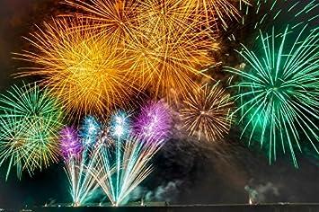 amazon com laminated poster fireworks starmine rocket summer