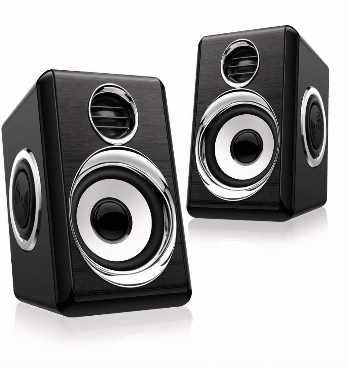Computer Speakers 8W PC Powered Speakers USB Speaker with Stereo Sound Wired Monitor Speakers for Desktop/Computer/PC/TV/Laptop/Cellphone/Gaming