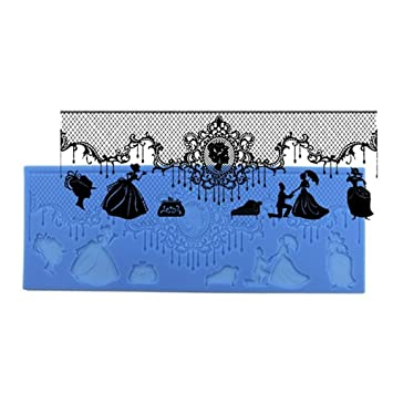 Moldes para fondant, decoración de tartas de boda, moldes de silicona para manualidades,