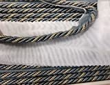 5/16'' Cord with Lip, colorn two tone Federal Blue/Gold, Upholstery Pillows Drapery Bedding Home Decor Crafting, sold by the bold (6 yds)