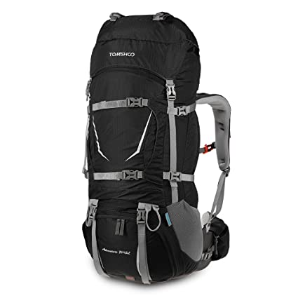 tomshoo  : TOMSHOO 75L Internal Frame Hiking Backpack, Trekking ...