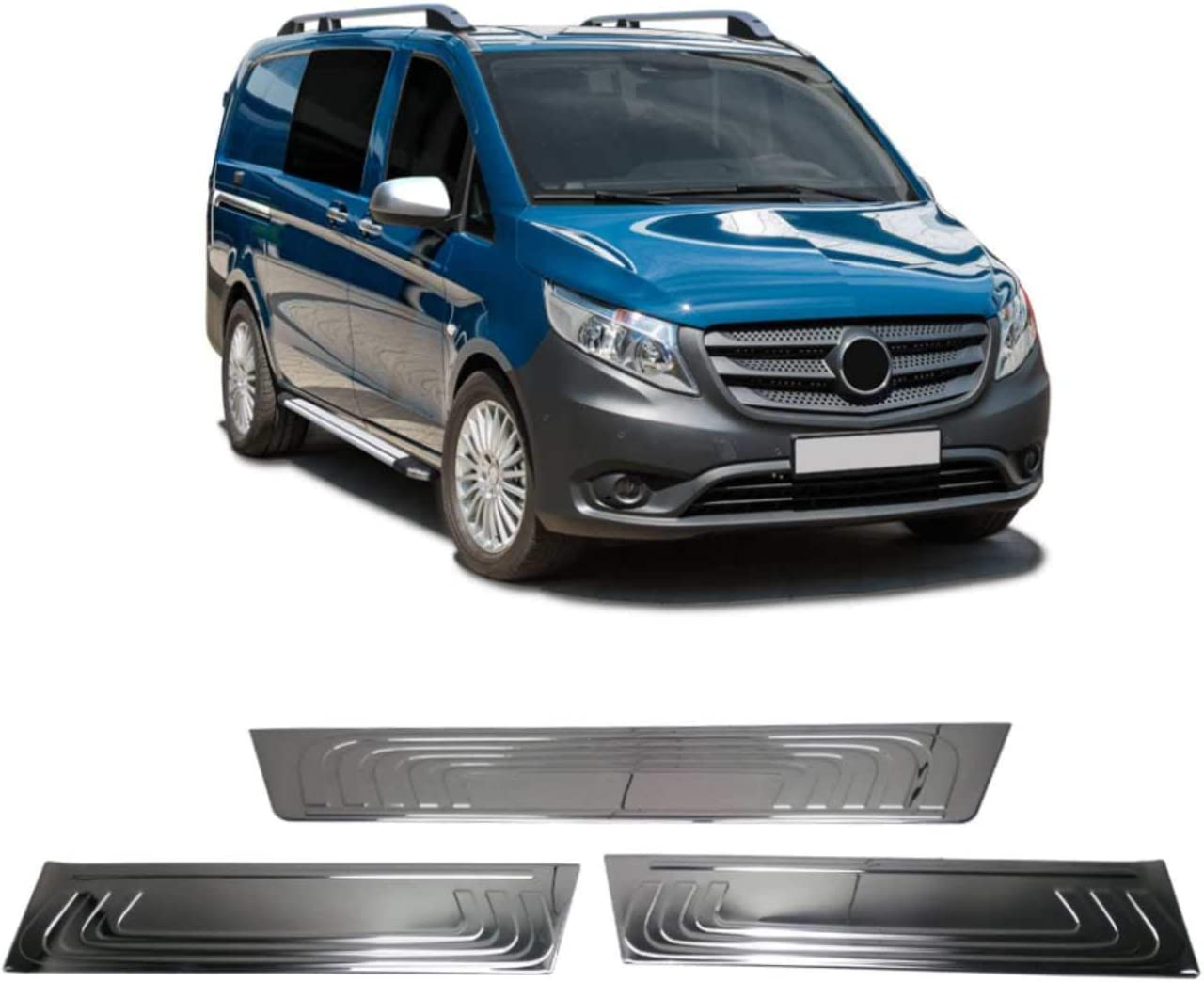 Omac Chrom Einstiegsleisten Türschutzleisten Für Vito W447 2014 2020 3 Tlg Aus Edelstahl V2a Auto