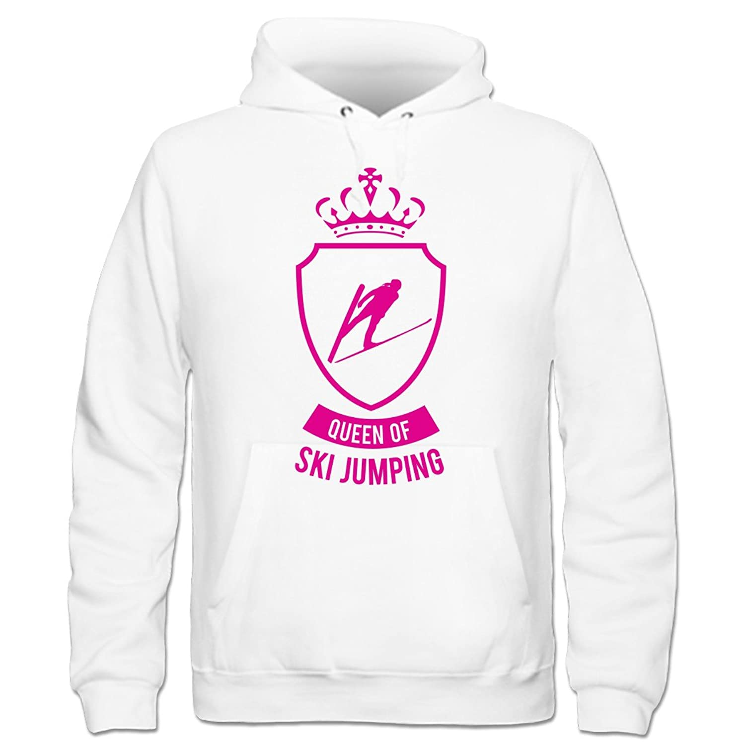 Queen Of Ski Jumping Kinder Kapuzenpulli by Shirtcity