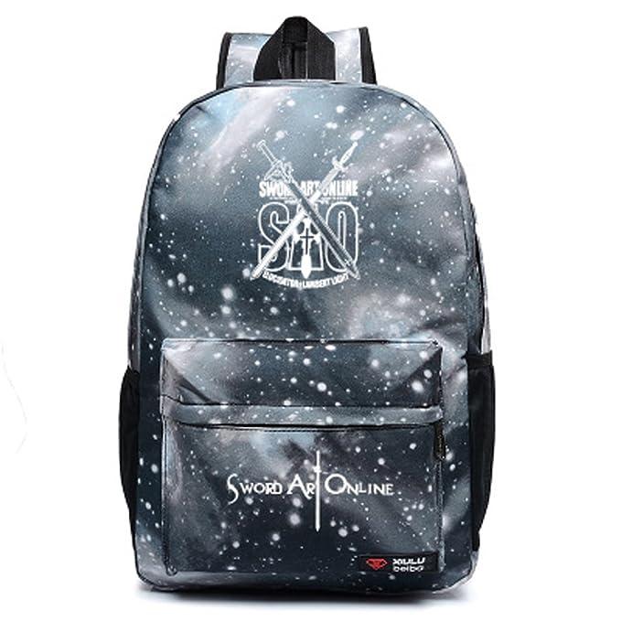 Diseño de Sword Art Online SAO Cosplay bolsa mochila bolso de escuela: Amazon.es: Ropa y accesorios