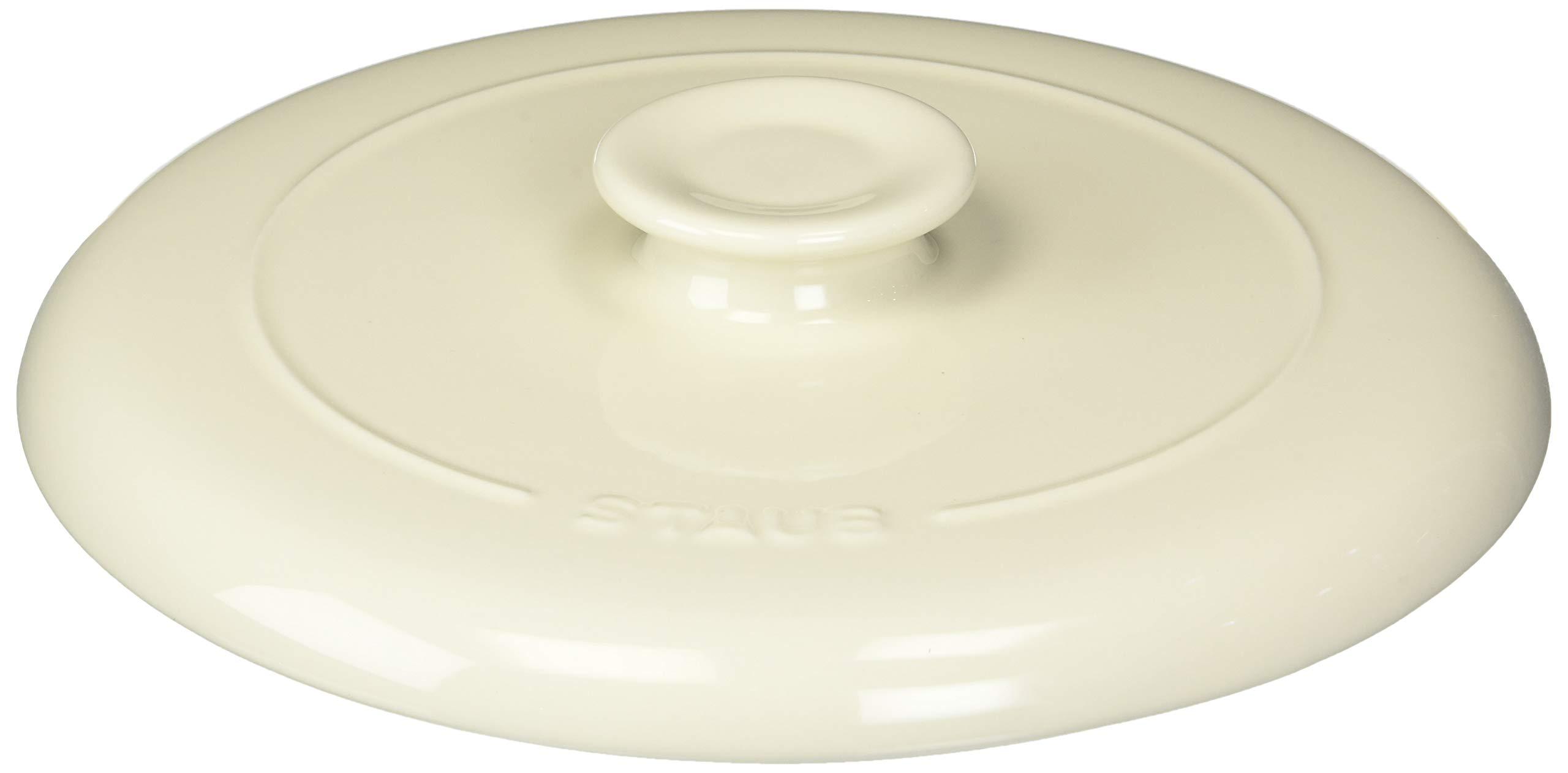 Staub 40508-635 Chicken Al Mattone Ceramic Press, 11'', White