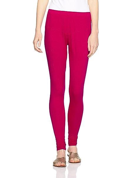 dc9c92e004e26 LUX LYRA Women's Leggins Pink Bubble gum Churidar Leggin: Amazon.in:  Clothing & Accessories