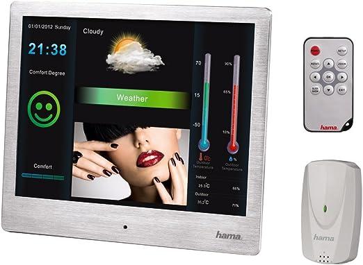 Hama - Marco de Fotos Digital con estación meteorológica (Acero ...