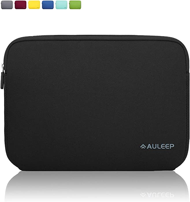 AULEEP 13-14 Inch Laptop Sleeves, Neoprene Notebook Computer Pocket Tablet Carrying Sleeve/Water-Resistant Compatible Laptop Sleeve for Acer/Asus/Dell/Lenovo/HP, Black