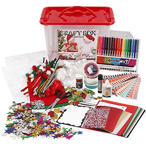 Materiales para manualidades con caja de almacenamiento, tamaño 34 x 34 x 20 cm, 1 unidad: Amazon.es: Amazon.es