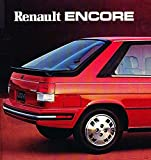 1984 RENAULT ENCORE PRESTIGE VINTAGE ORIGNAL Color Sales Brochure - USA - FABULOUS !!