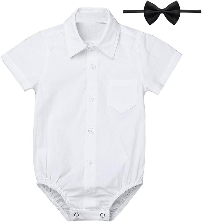 Langarmbodys Baby Jungen Hemdbody Langarm Strampler Bodysuit Festliche Kleidung