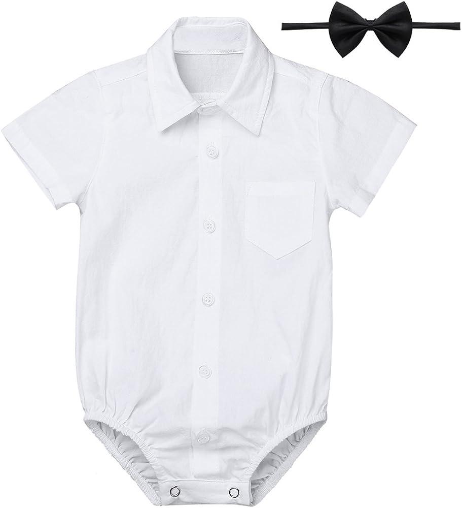 TiaoBug Pelele Recien Nacido con Corbata Disfraz Bebé de Fiesta ...