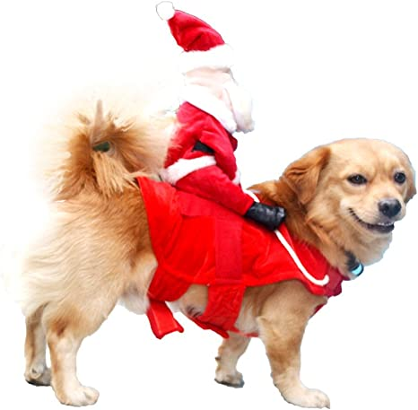 Amazon.com: Disfraz de Papá Noel para perro o gato de Nacoco ...