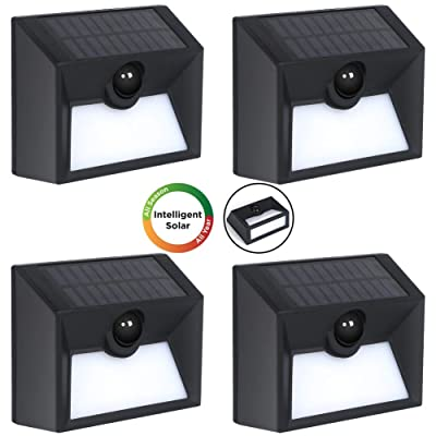 Westinghouse Intelligent Solar Lights Outdoor 20 SMD LEDs Solar Motion Sensor Lights 300 Lumens Waterproof Solar Fence Lights for Security Garden Patio Stairs Deck Gate Driveway Yard (4 Pack): Home Improvement