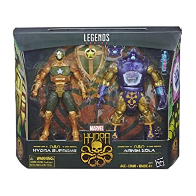 Marvel Legends Arnim Zola and Supreme Captain America 6-Inch Action Figures: Toys & Games