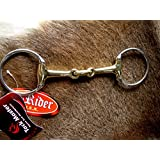 "SS Copper Horse Tack Western English Eggbutt Snaffle Horse Bit Dog Bone 5"" 35190"