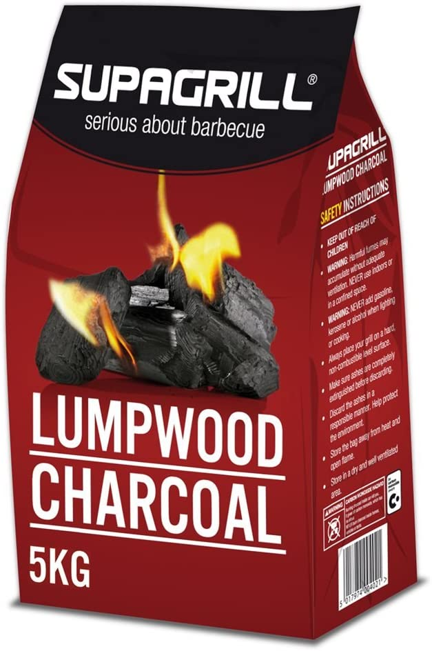 Supagrill 5KG Bag of High Quality Lumpwood Charcoal For BBQs