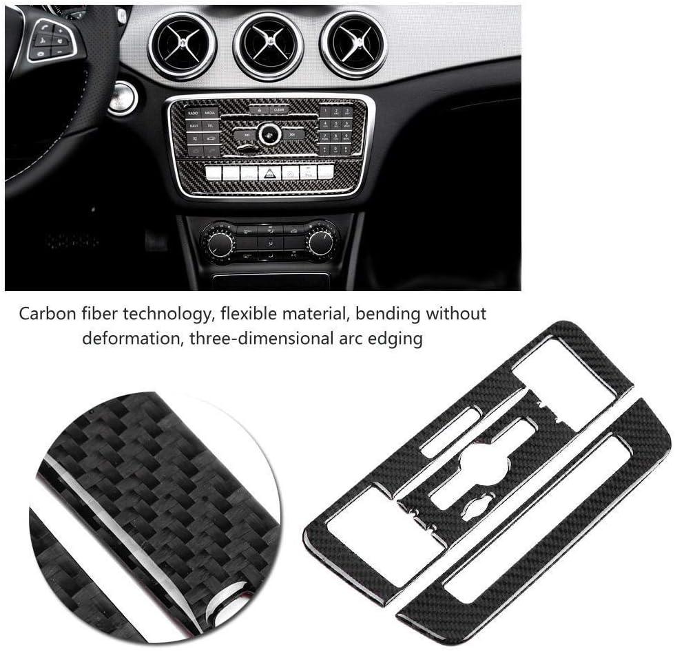 Broco Carbon Fiber CD Aire acondicionado Control de cubierta del panel de Mercedes-Benz A Clase B Clase CLA GLA