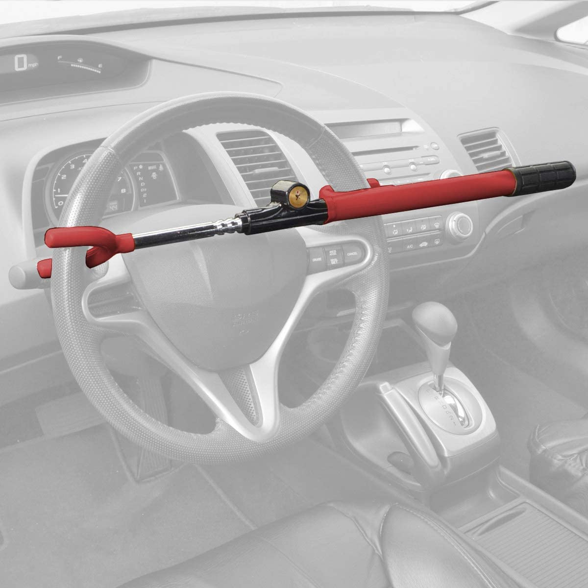 Amazing Tour Universal Car Steering Wheel Lock Anti-Theft Device Security System Double Hook