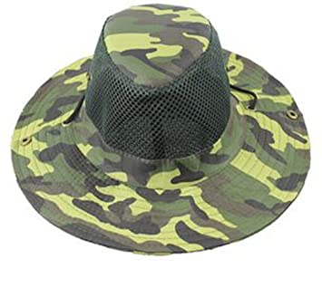 Men Military Camo Bucket Hat with Strings Camping Hiking Travel Sniper Wide  Brim Boonie Hat Mesh Hunting Caps (C2)  Amazon.ca  Sports   Outdoors 063d35ddb1f