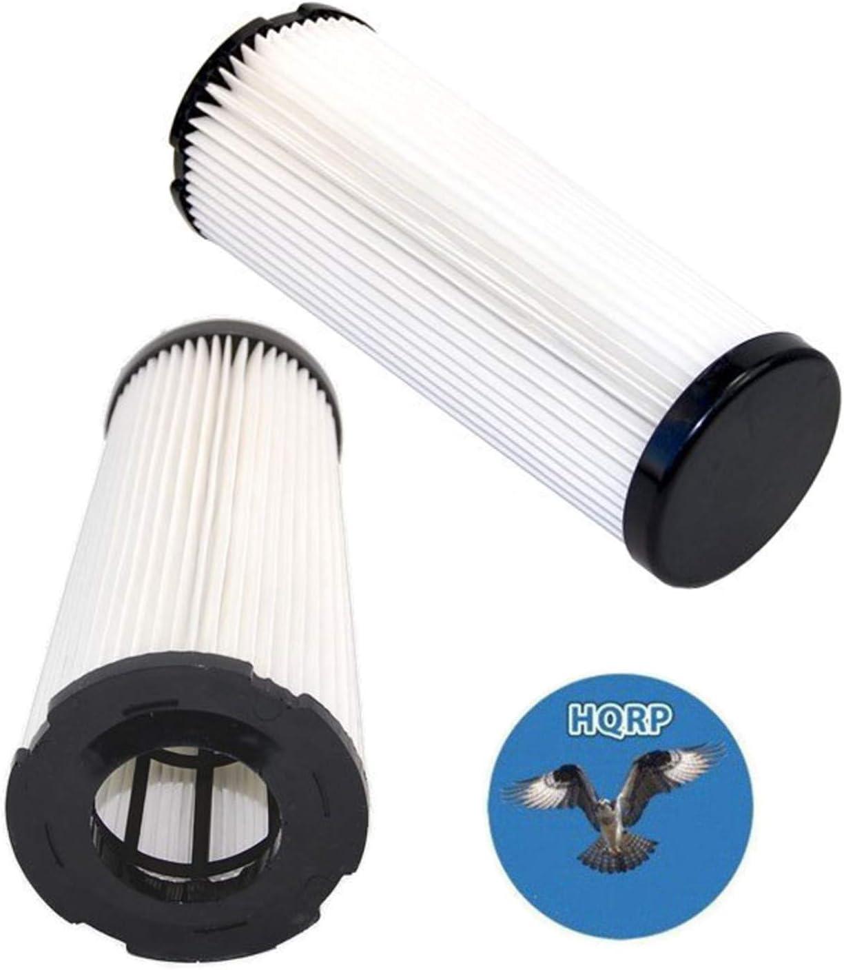 HQRP 2-Pack Filter for Dirt Devil M086700 086700 M086700W 086700W M086700WCA 086700WCA Vision Wide Glide, M086930 086930 M086930CA 086930CA Vision Bagless Upright Plum Vac Vacuum Cleaner + Coaster