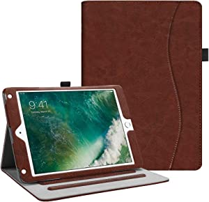Fintie Case for iPad 9.7 2018 2017 / iPad Air 2 / iPad Air - [Corner Protection] Multi-Angle Viewing Folio Cover w/Pocket, Auto Wake/Sleep for iPad 6th / 5th Gen, iPad Air 1/2, Vintage Brown
