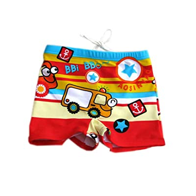3-5 Years Old XL Cartoon Cartoon Car Swim Trunk Boy Leg Swim Shorts for Kids