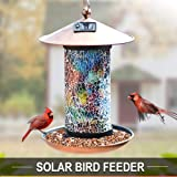 XDW-GIFTS Solar Bird-Feeder for Outside Hanging Outdoor - Solar Powered Garden Lantern Light Bird-House Wild Hanging…
