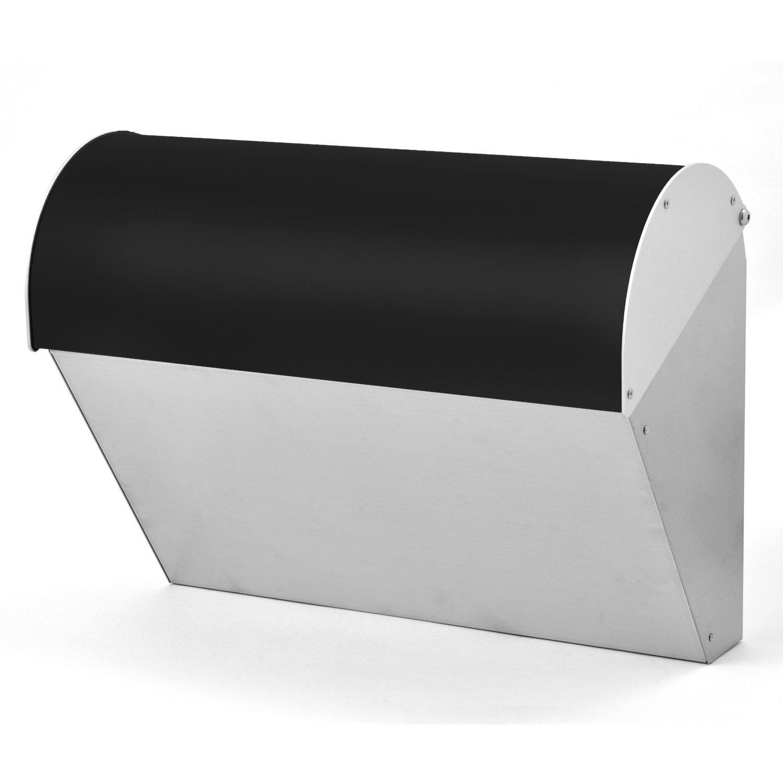 LEON (レオン) ビバリー 人気 郵便ポスト 壁掛けタイプ ステンレス製 おしゃれ 大型 北欧 かわいい メール便対応 防水 ポスト 郵便受け ブラック B076WGP7ZH 19980 ブラック ブラック