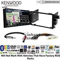 Volunteer Audio Kenwood Excelon DNX994S Double Din Radio Install Kit with GPS Navigation Apple CarPlay Android Auto Fits 2000-2005 Buick LeSabre, 2000-2005 Pontiac Bonneville (Without Bose)