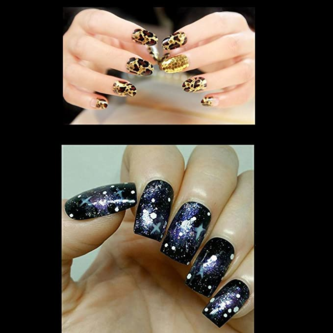 Makartt 500pcs uñas postizas natural oval Full Cover uñas de gel falsos consejos de 10 tamaños longitud perfecta para salones de uñas y DIY Nail Art ...
