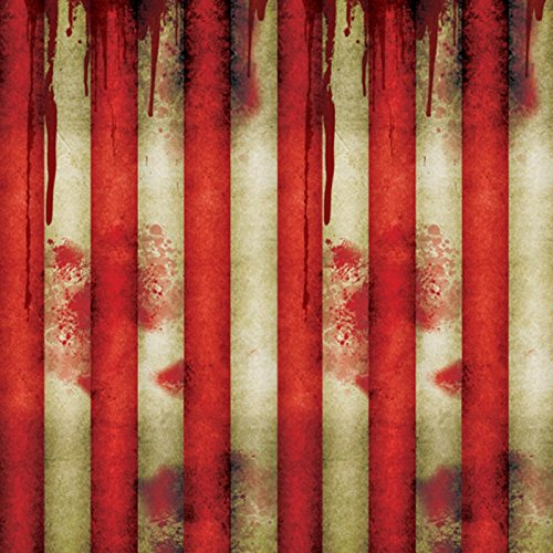 (Amscan Creepy Carnival Striped Room Roll, 4)