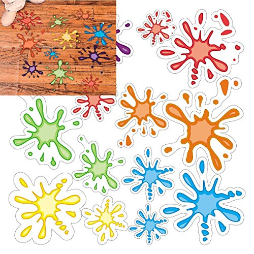 Splatter Window Clings Assorted Decorations