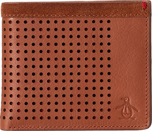 Original Penguin Men's Hector Leather Wallet, English Tan, One Size