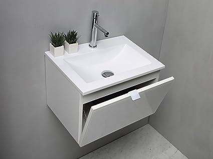 Arredo bagno mobile bagno da cm 50 con lavabo lavandino in