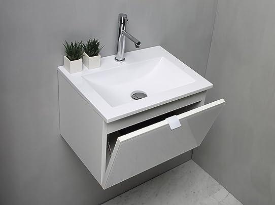 Meuble Salle De Bain Avec Plan Vasque En Résine Cm 51: Amazon.Fr