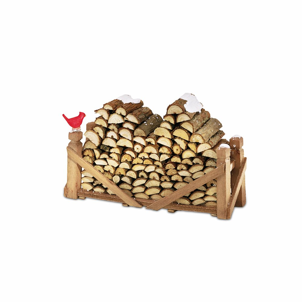 Department 56 Accessories for Villages Natural Wood Log Pile Accessory Figurine