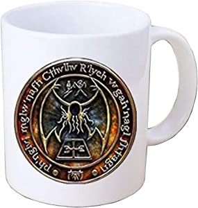 New Cthulhu R'lyeh Sigil Mug inspired by H.P. Lovecraft Mug Coffee Mug Glass Photo cabochon Coffee Mug,PU341