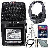 Zoom H2n Handy Digital Recorder along With Samson Studio Headphones and Deluxe Accessory Bundle