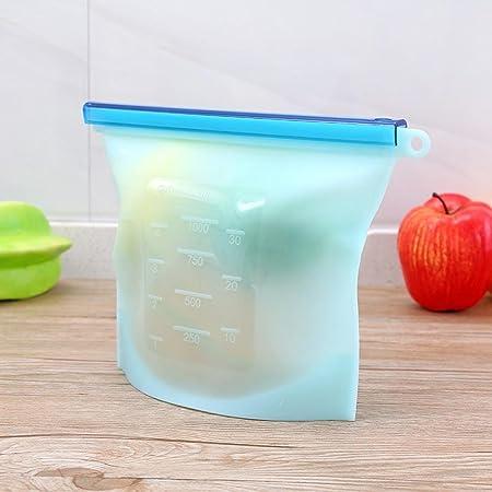 AOLVO - Bolsa de Silicona Reutilizable para conservar Alimentos ...